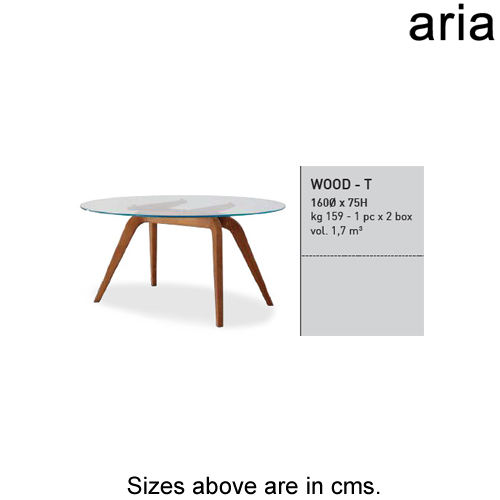 Wood - T Dining Table by Aria