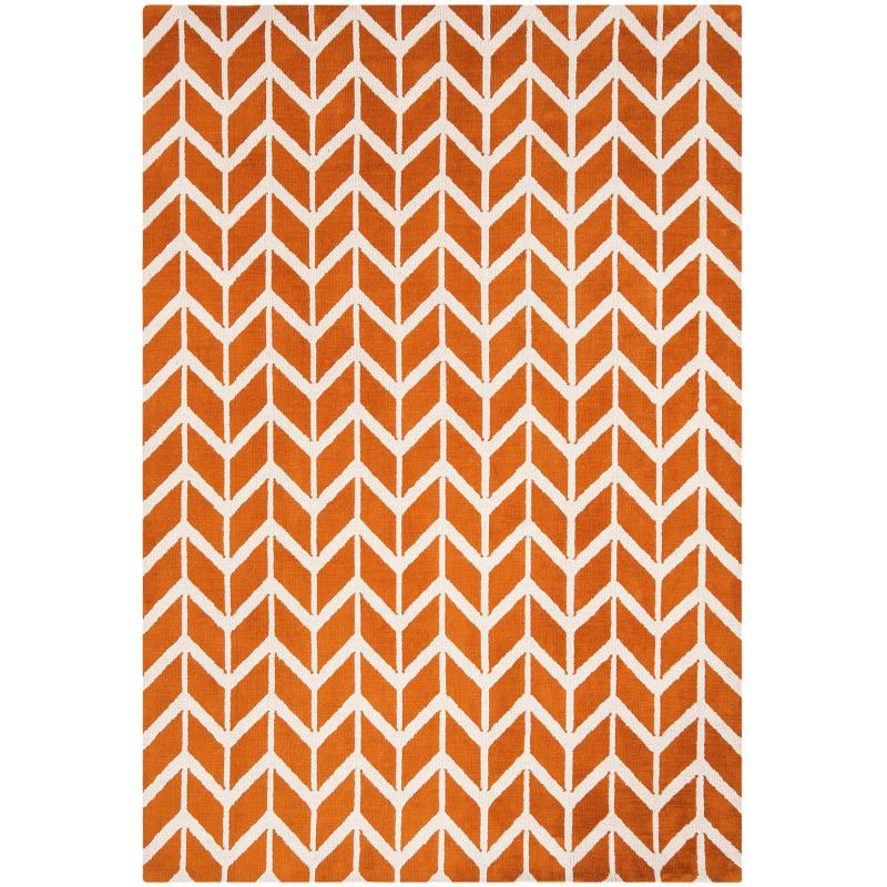 Arlo Chevron Orange Ar07 Rug by Attic Rugs