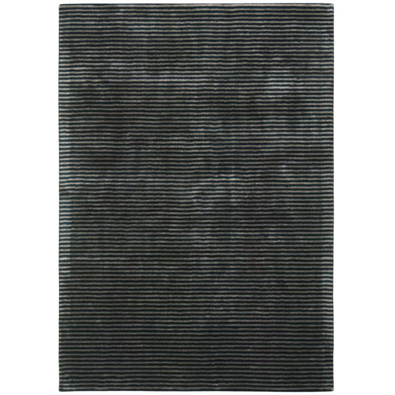 Chrome Stripe Nero Rug by Attic Rugs