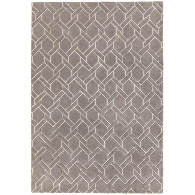 Nexus Fl06 Grey/ Silver Rug by Attic Rugs