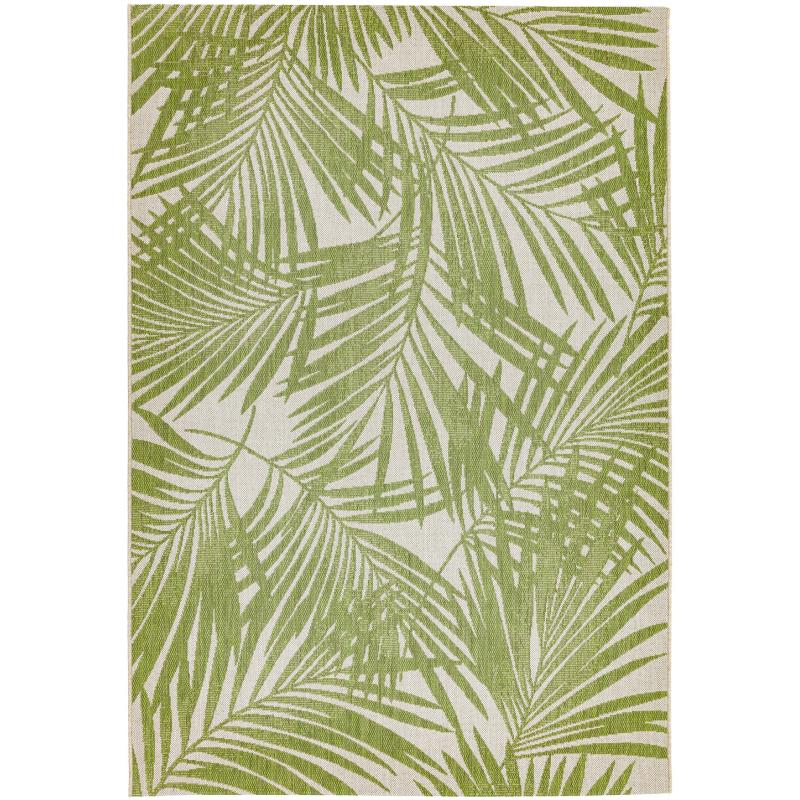 Patio Pat15 Green Palm Rug by Attic Rugs