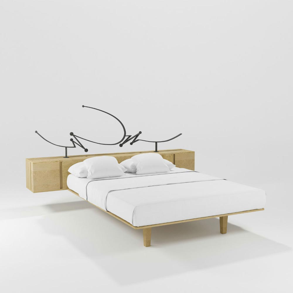 Cubo Double Bed by Barel