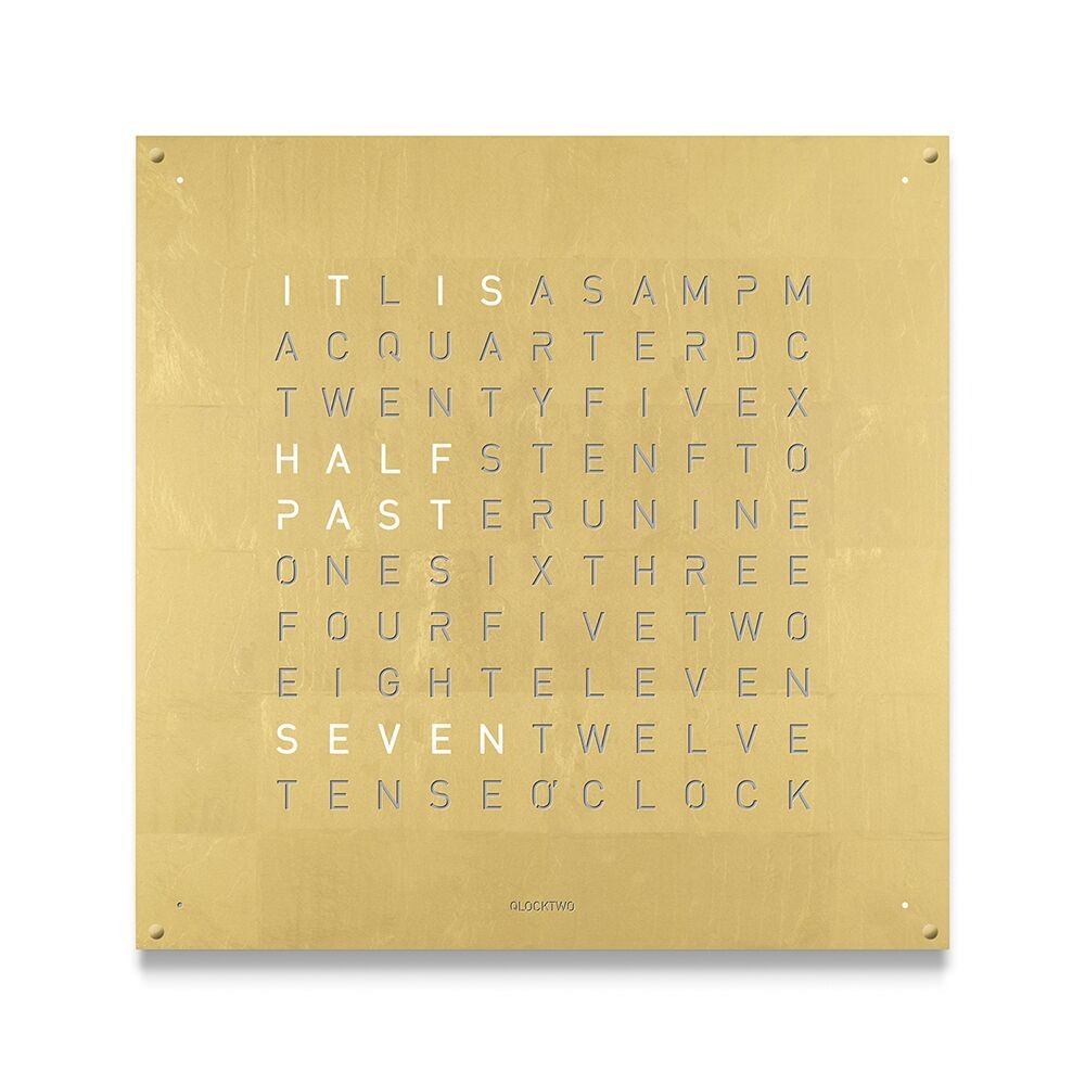 Qlocktwo 180 Large Clock Creators Edition Gold by Biegert and Funk