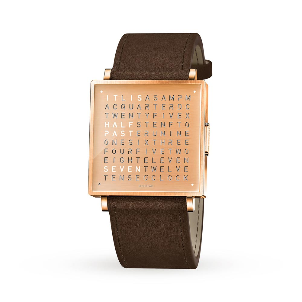 Qlocktwo 35Mm Copper Wristwatch by Biegert and Funk