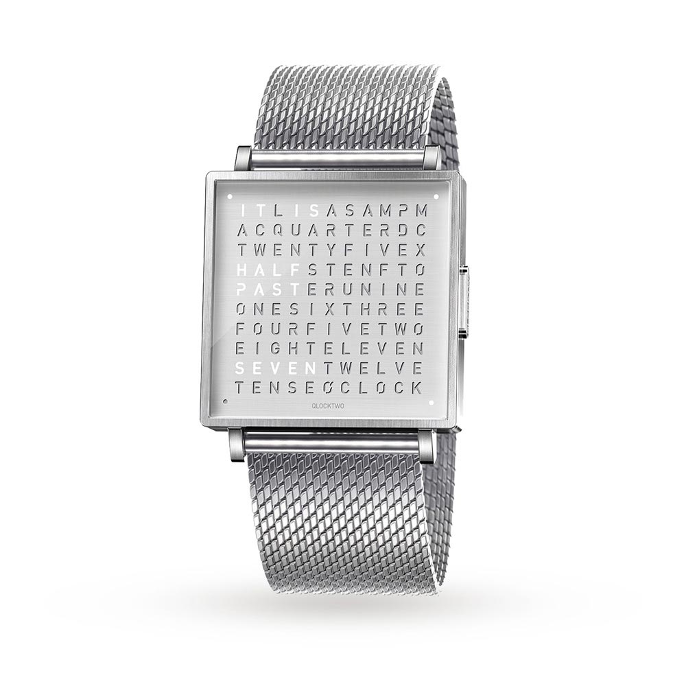 Qlocktwo 35Mm Fine Steel Wristwatch by Biegert and Funk