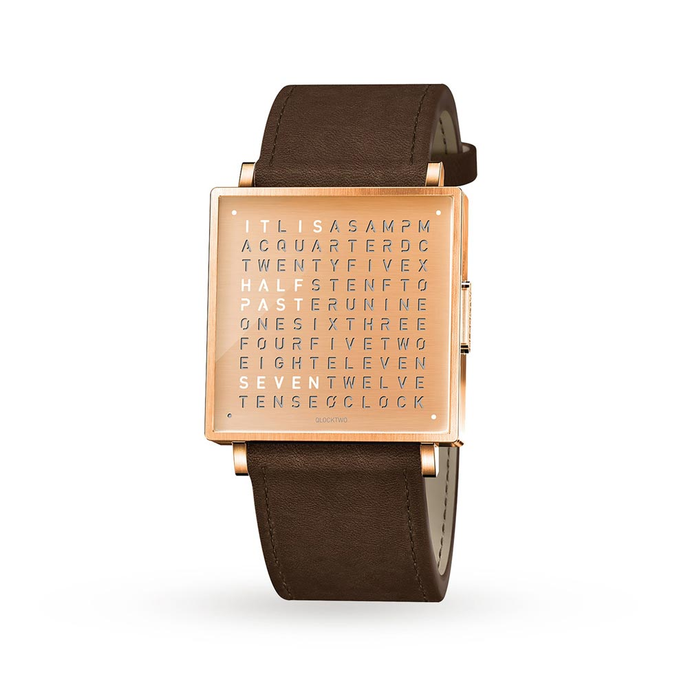 Qlocktwo 39Mm Copper Wristwatch by Biegert and Funk