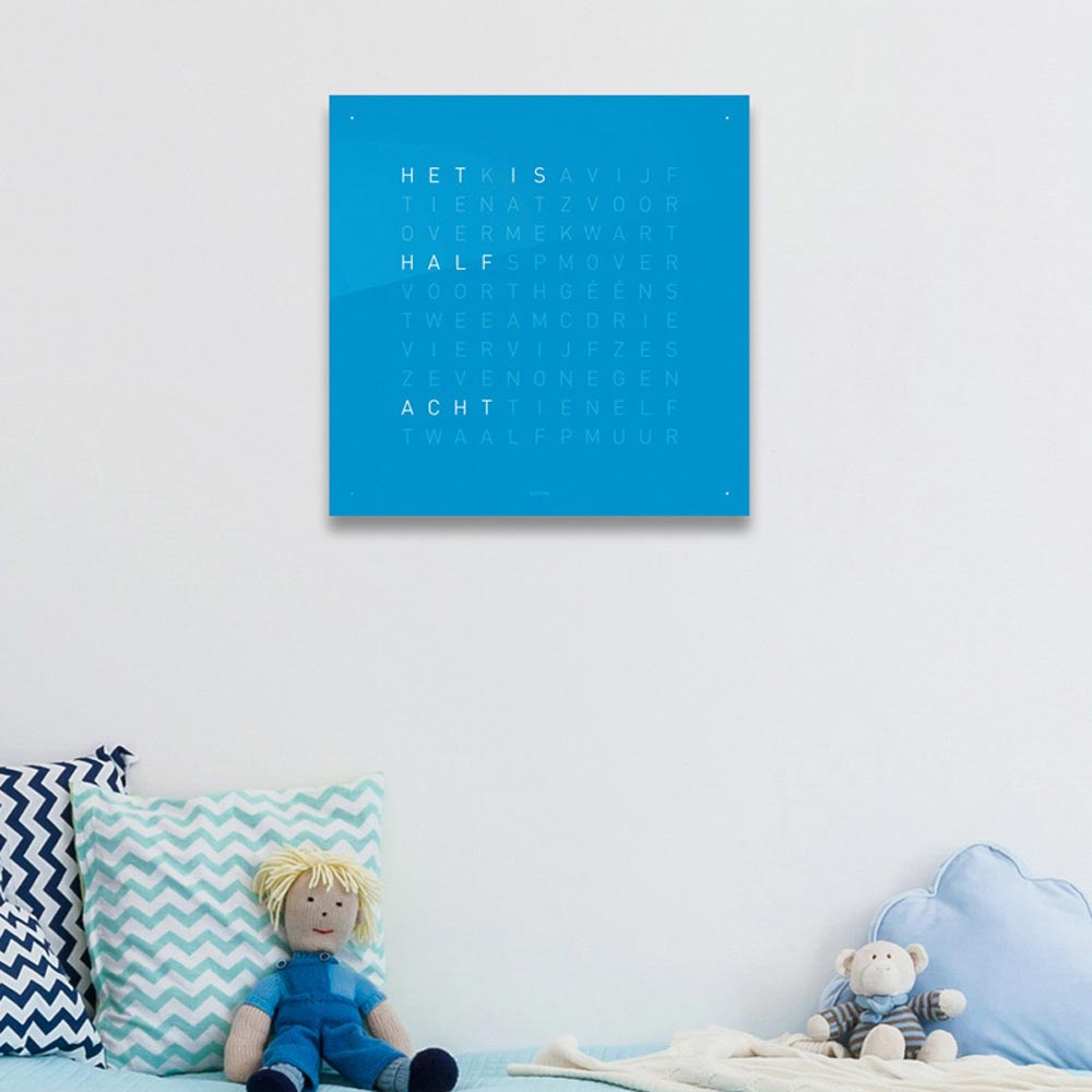 Qlocktwo Classic Acrylic Clock Blue Candy by Biegert and Funk