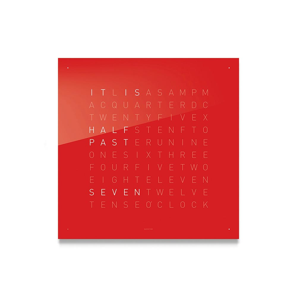 Qlocktwo Classic Acrylic Clock Cherry Cake by Biegert and Funk