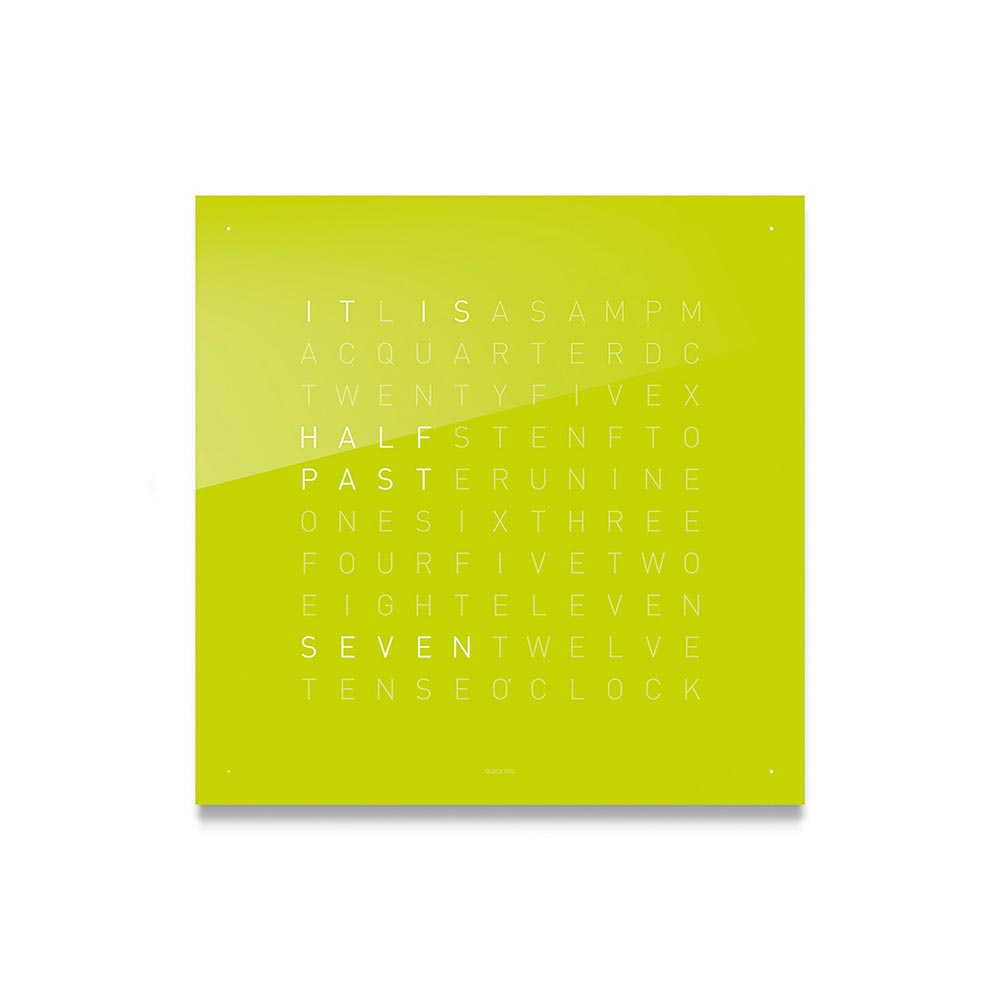 Qlocktwo Classic Acrylic Clock Lime Juice by Biegert and Funk