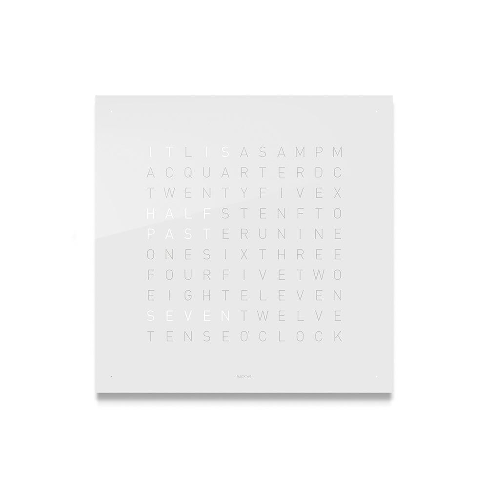 Qlocktwo Classic Acrylic Clock Vanilla Sugar by Biegert and Funk