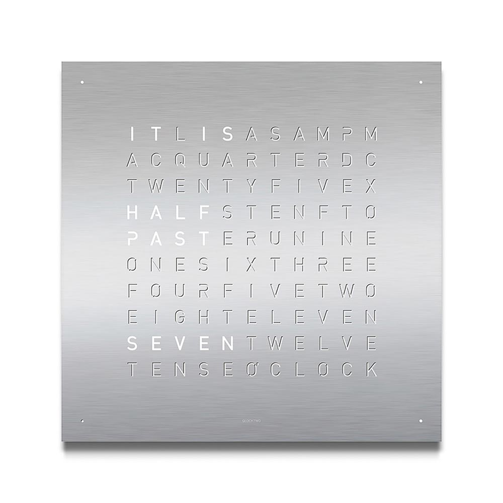 Qlocktwo Classic Stainless Steel Clock by Biegert and Funk