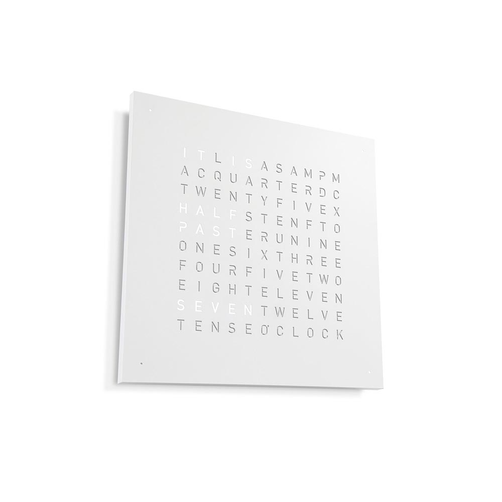 Qlocktwo Classic Steel Powder Coated Clock White Pepper by Biegert and Funk