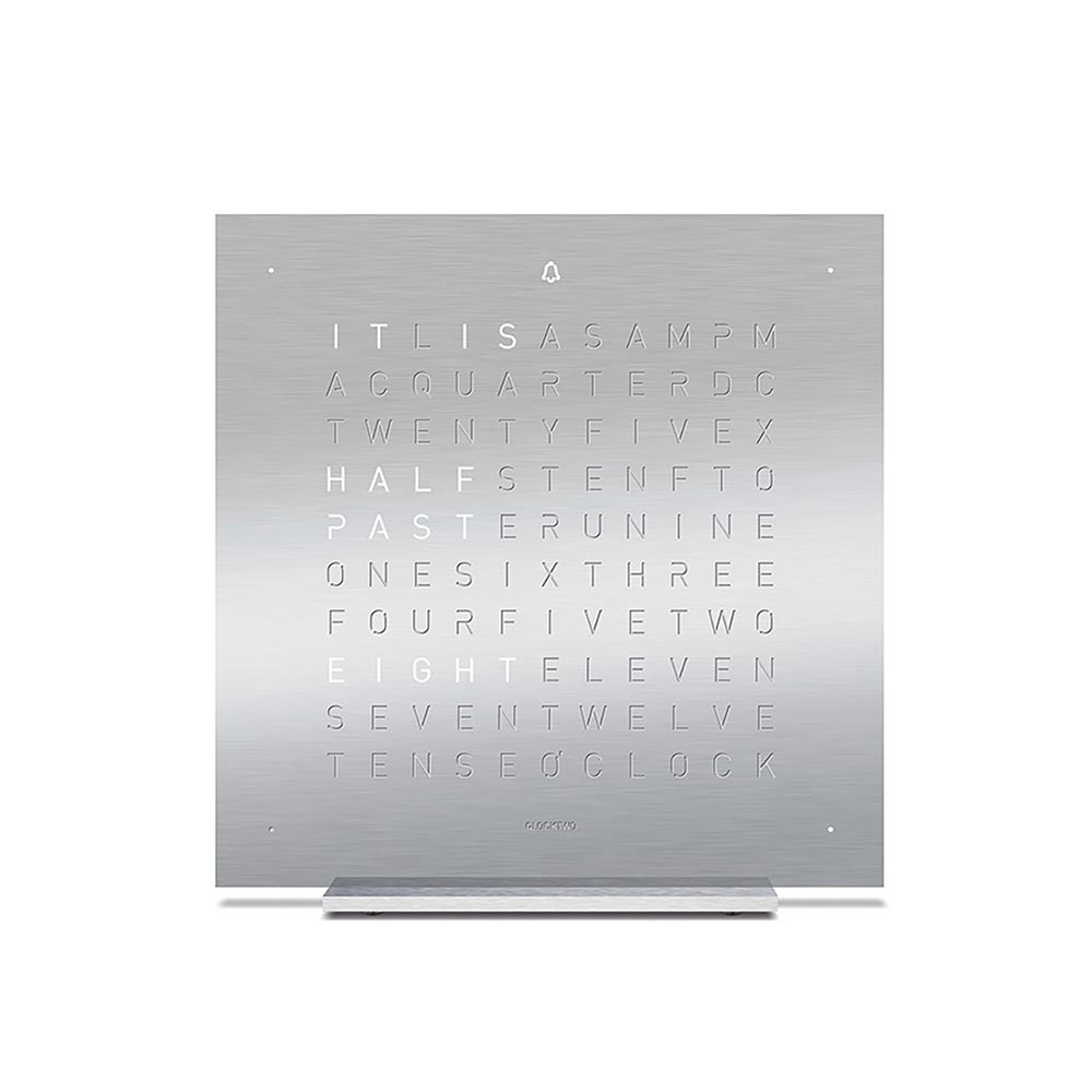 Qlocktwo Touch Metal Table Clock Full Metal by Biegert and Funk