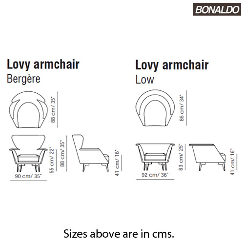 Lovy Armchair by Bonaldo
