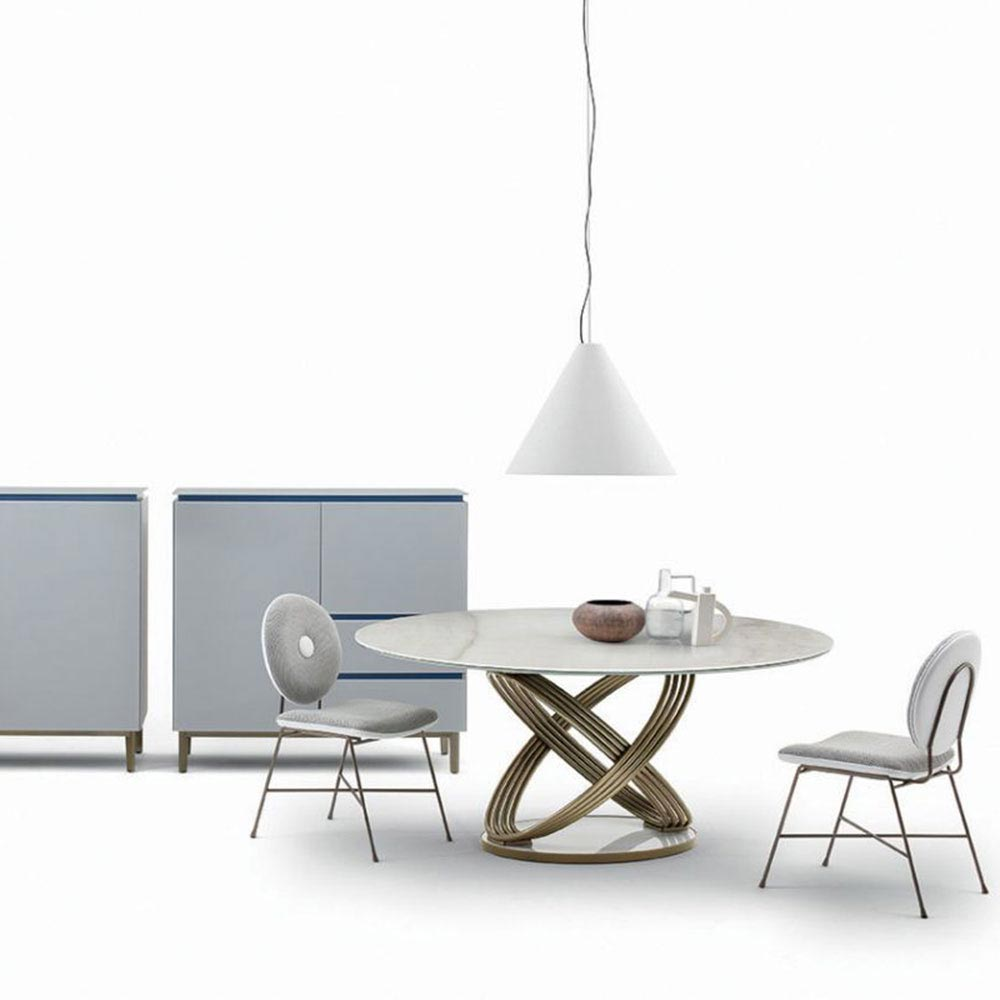Fusion Round Dining Table by Bontempi