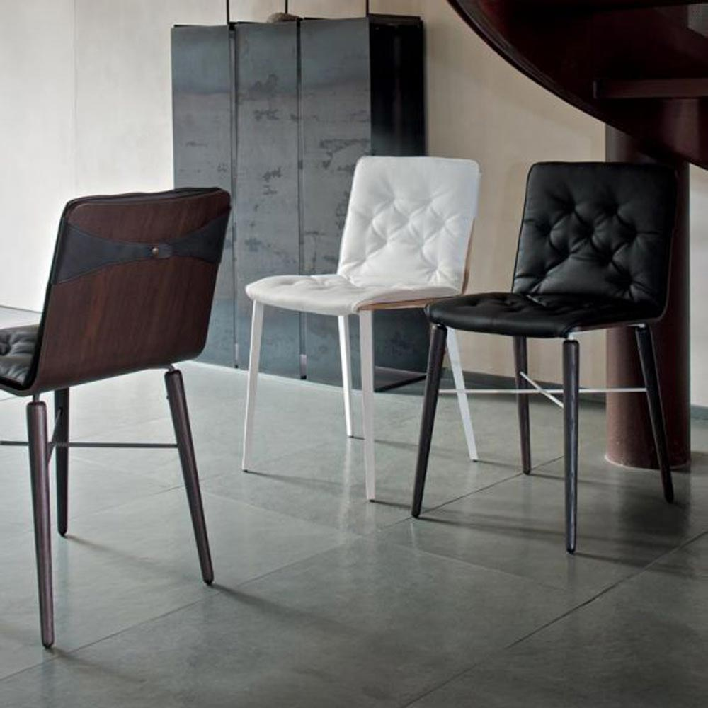 Kate Metal Frame With Cushion Dining Chair by Bontempi