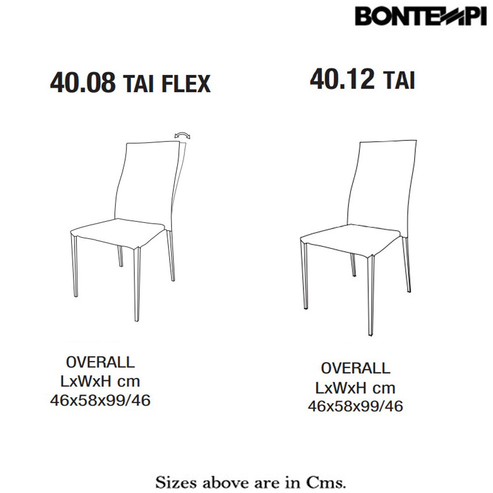Tai Dining Chair by Bontempi
