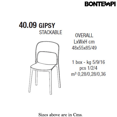 Gipsy Dining Chair by Bontempi