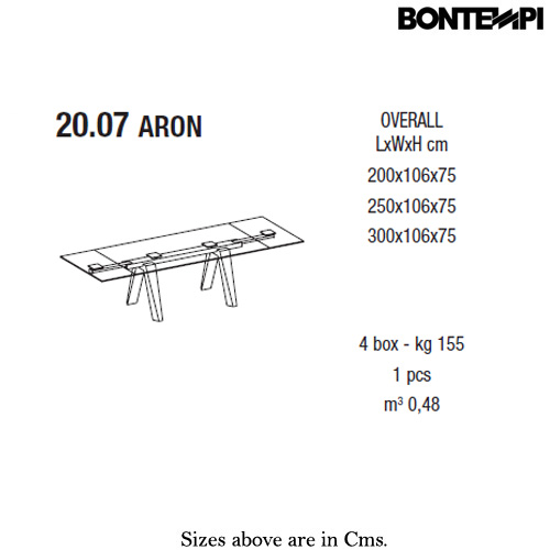 Aron 20-07 Dining Table by Bontempi