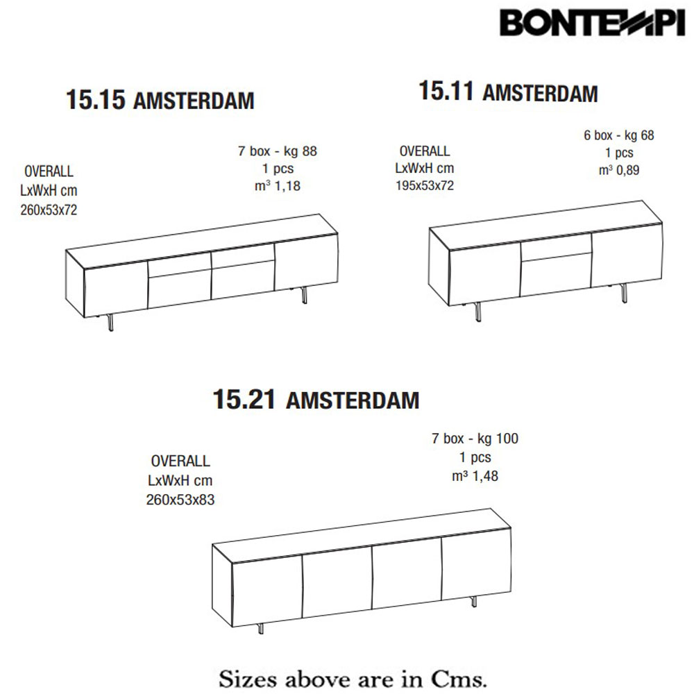 Amsterdam 15-15 Sideboard by Bontempi