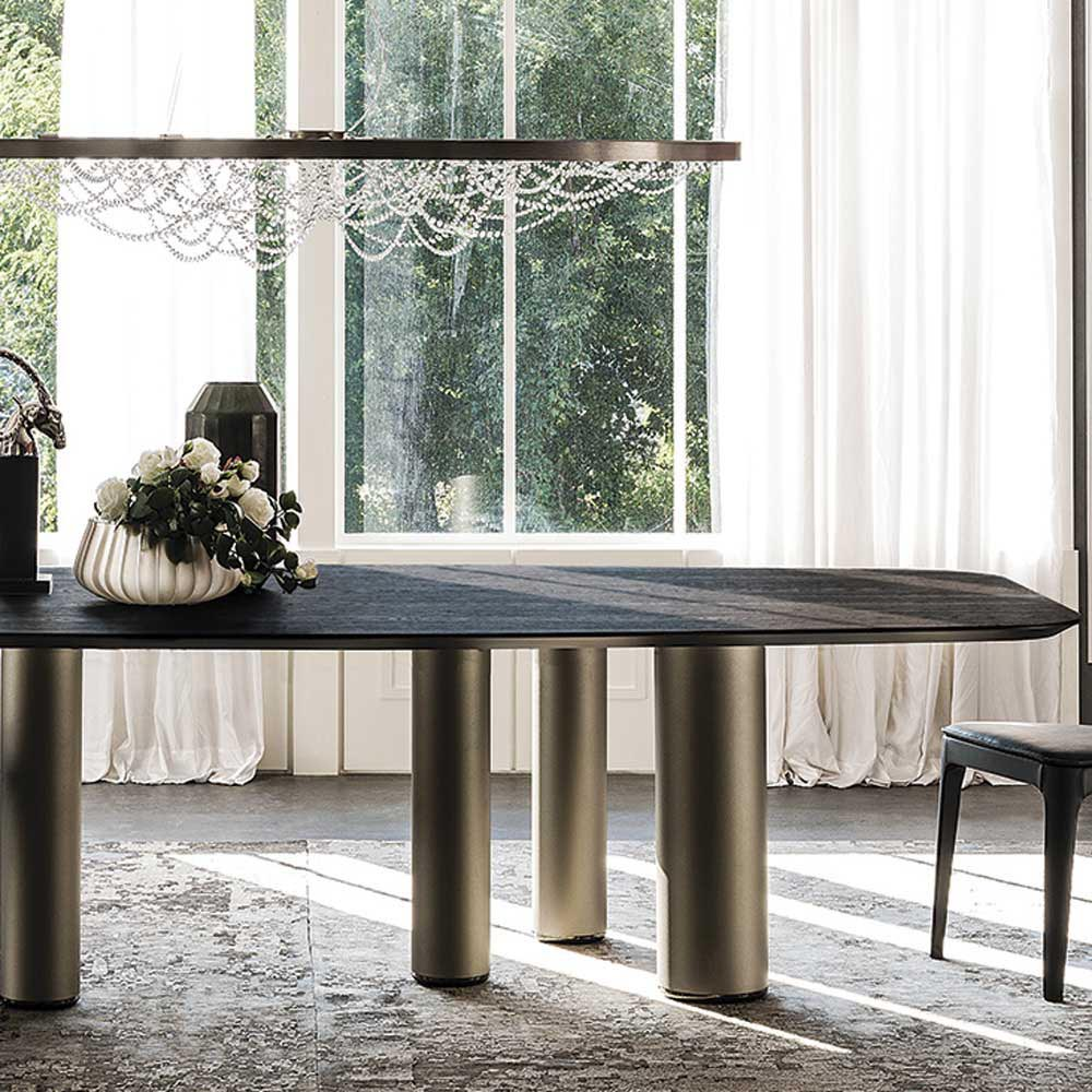 Roll Wood Fixed Table by Cattelan Italia