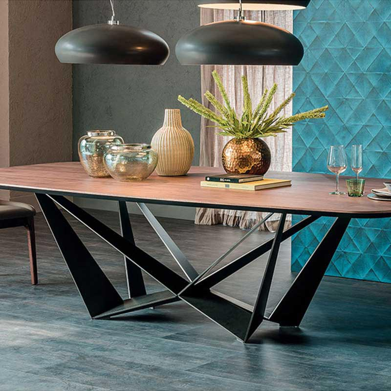Skorpio Wood Fixed Table by Cattelan Italia