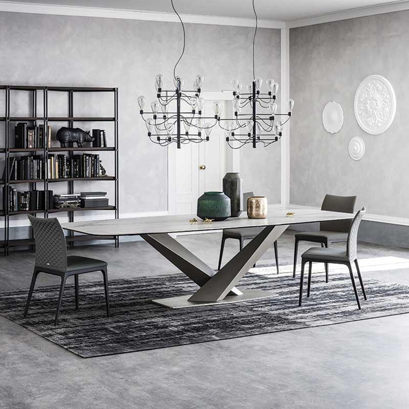 Stratos Keramik Fixed Table by Cattelan Italia