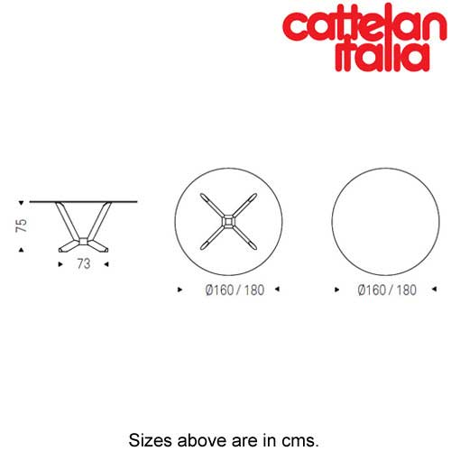 Planer Round Fixed Table by Cattelan Italia