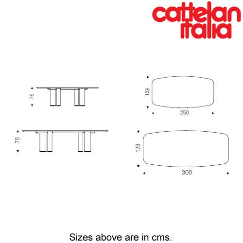 Roll Wood Fixed Table by Cattelan Italia by Cattelan Italia