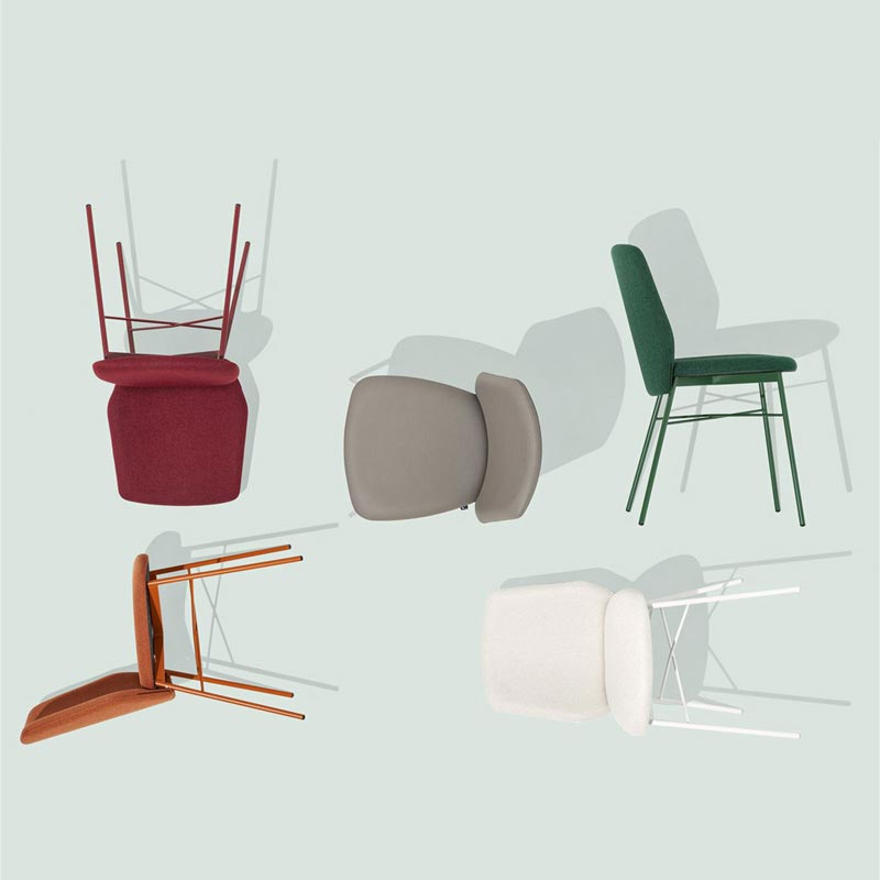 Sibilla Soft Cb1959-A Dining Chair by Connubia Calligaris