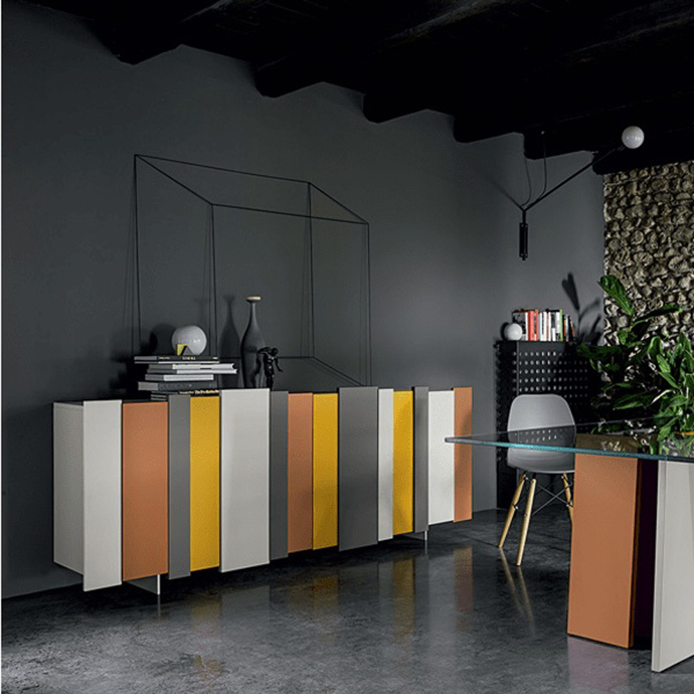 28 Stripe Part 2 Sideboard by Dallagnese