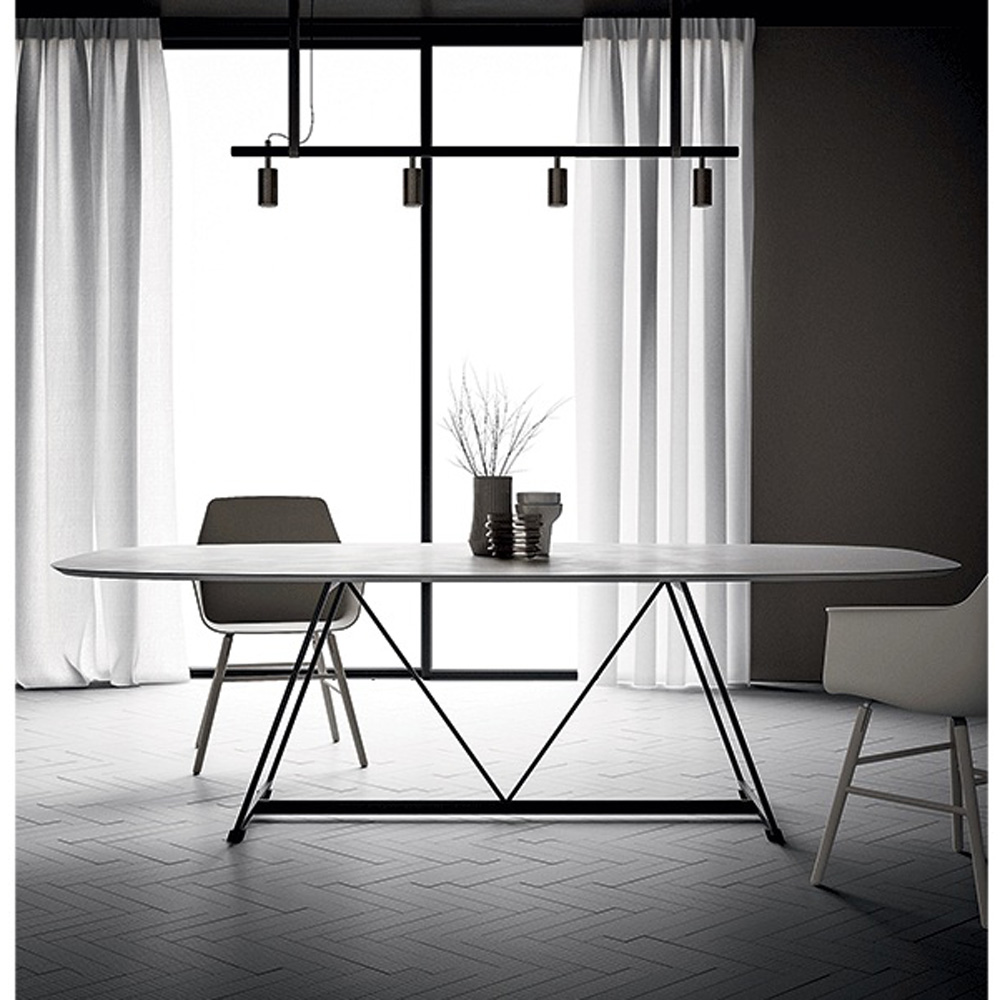 Radar Ovale Dining Table by Dallagnese
