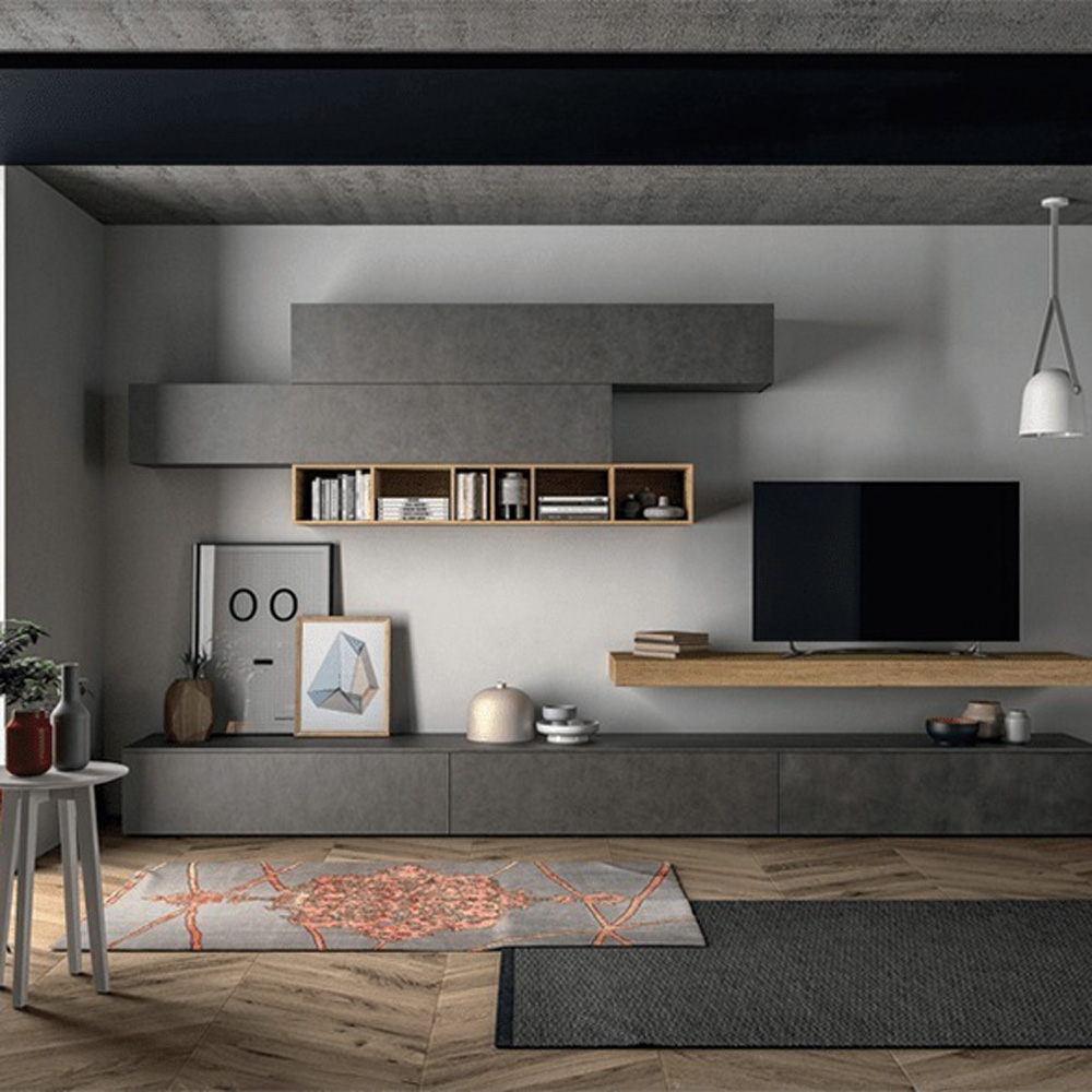 Slim Up TV Wall Unit by Dallagnese