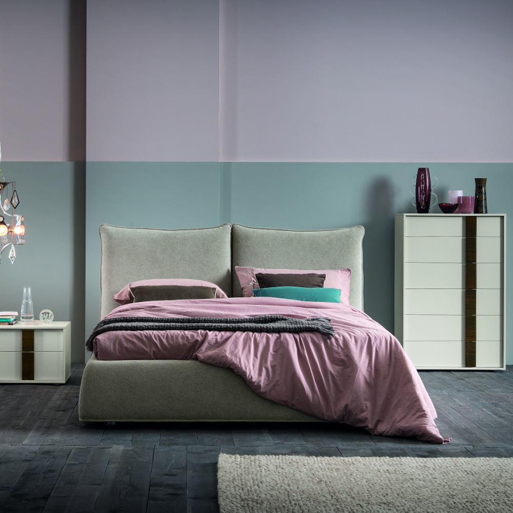 Trace Double Bed by Dallagnese
