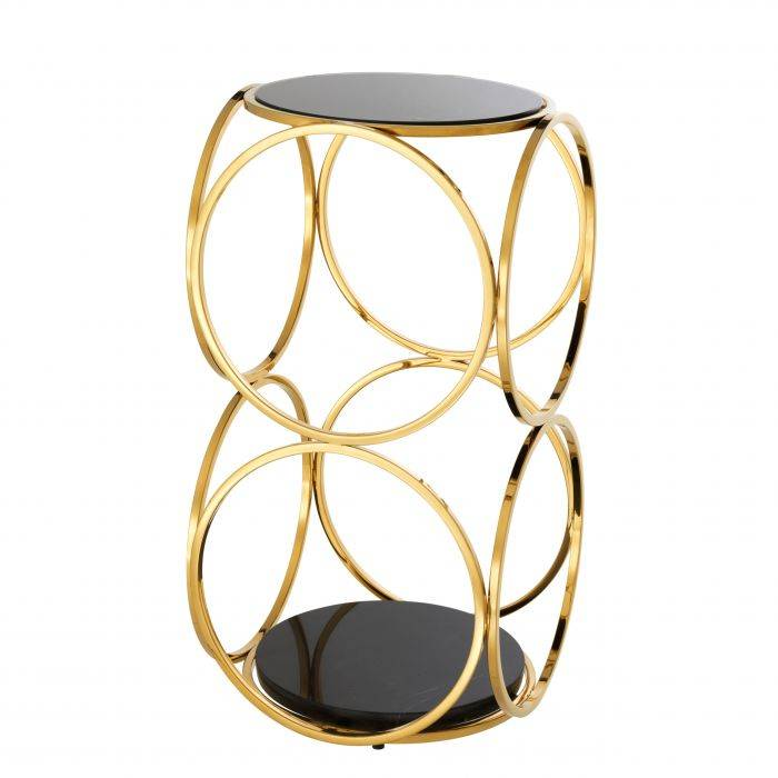 Alister Gold Finish Side Table by Eichholtz