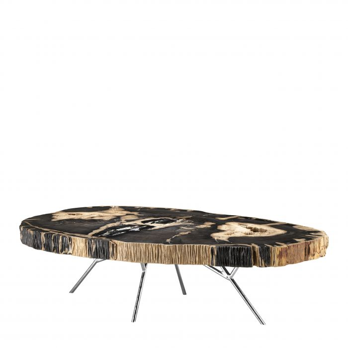 Barrymore Dark Petrified Wood Coffee Table by Eichholtz