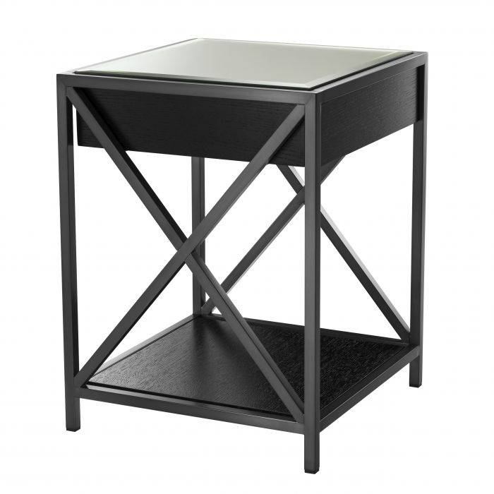 Beverly Hill Bronze Finish Bedside Table by Eichholtz