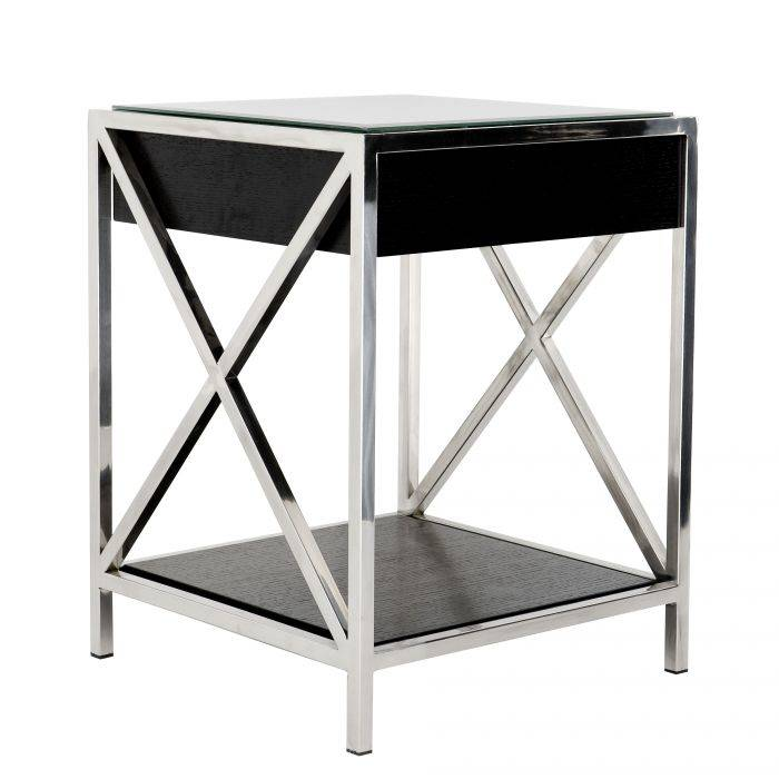 Beverly Hill Stainless Steel Bedside Table by Eichholtz