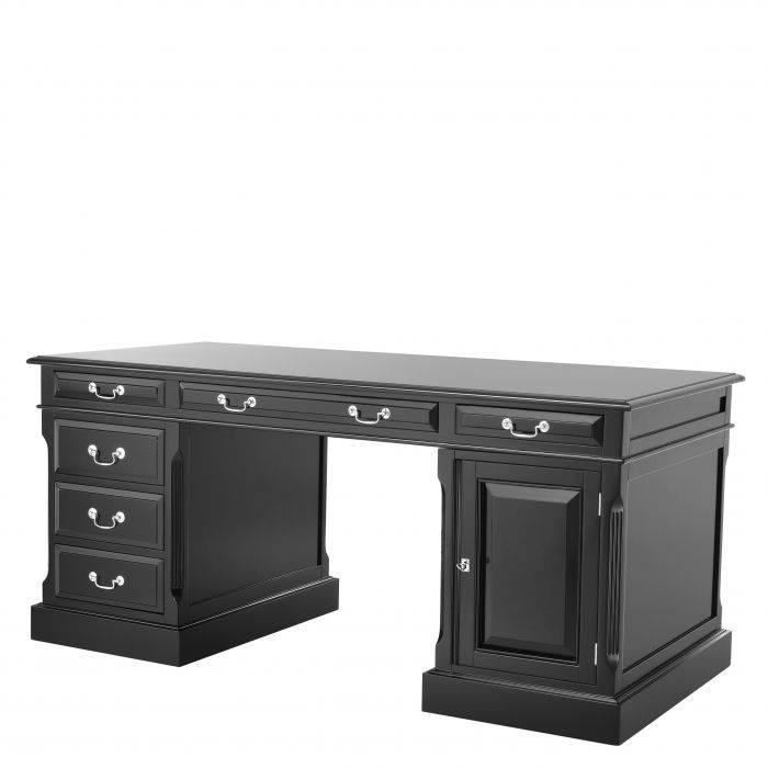 British Black Finish Desk by Eichholtz