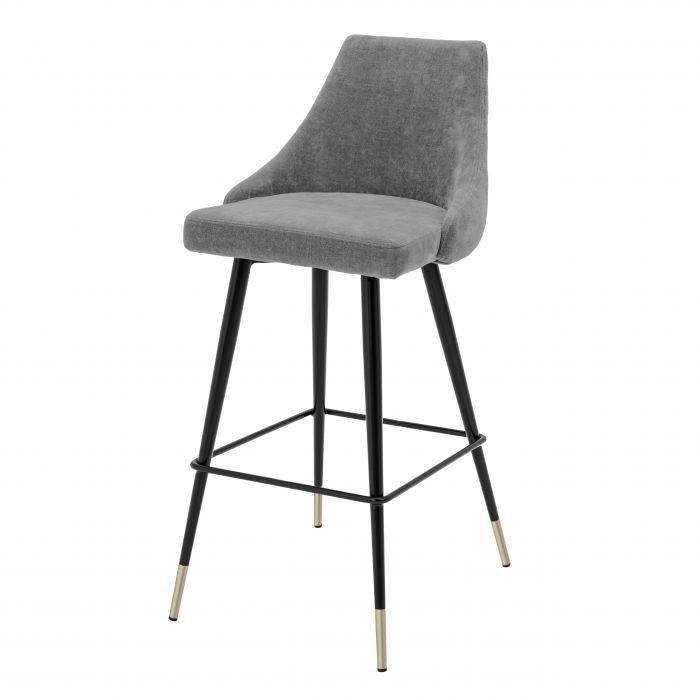 Cedro Clarck Grey Bar Stool by Eichholtz