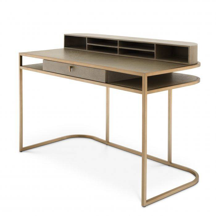 Highland Washed Oak Veneer Desk by Eichholtz