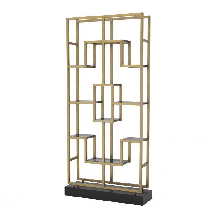 Lagonda Brass Finish Display Cabinet by Eichholtz