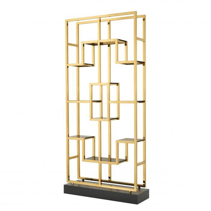 Lagonda Gold Finish Display Cabinet by Eichholtz