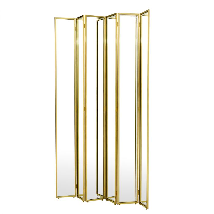 Mademoiselle Gabrielle Gold Finish Room Divider by Eichholtz