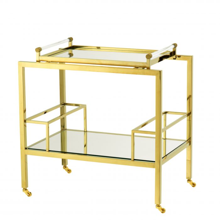 Majestic Gold Finish Bar Trolley by Eichholtz