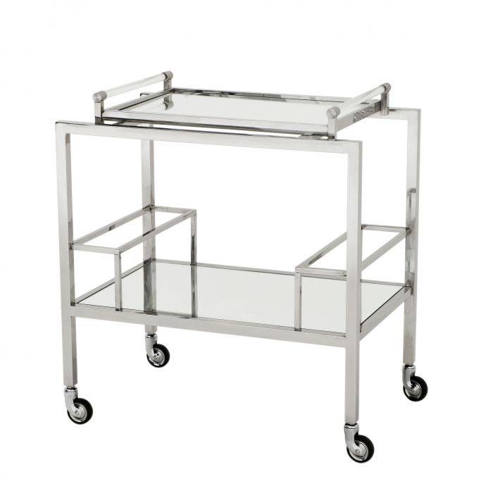 Majestic Stainless Steel Bar Trolley by Eichholtz