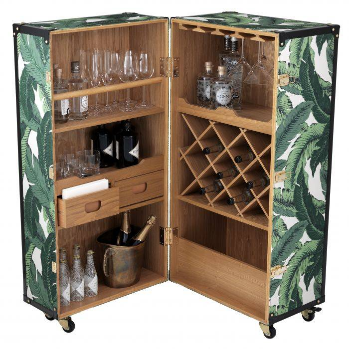 Martini Bianco Mustique Green Drinks Cabinet by Eichholtz