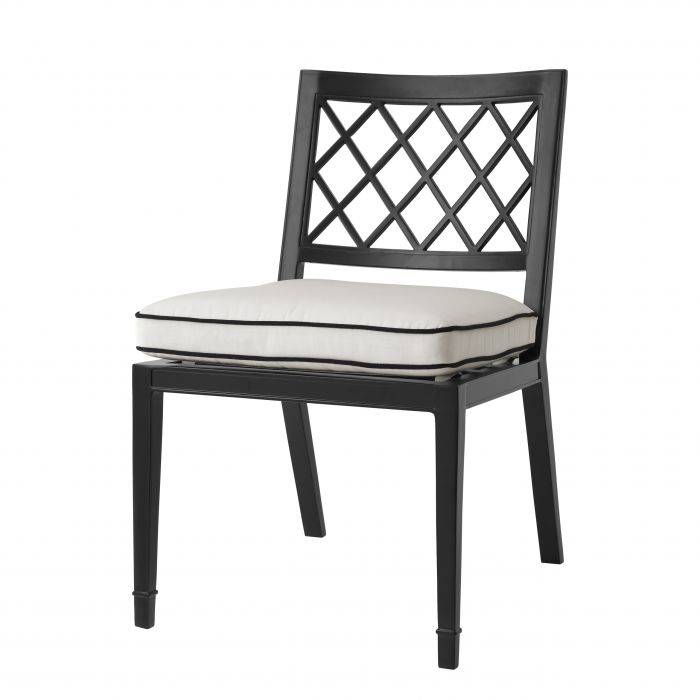 Paladium Black Finish Dining Chair by Eichholtz