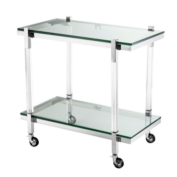 Royalton Stainless Steel Bar Trolley by Eichholtz