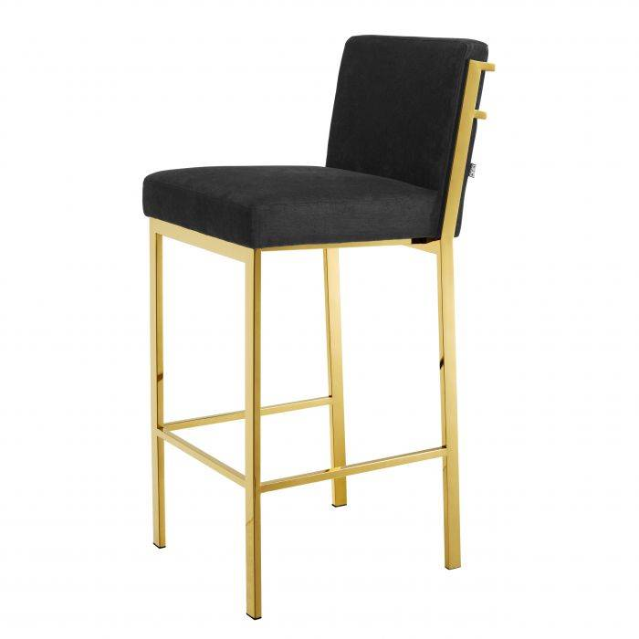 Scott Gold Finish Bar Stool by Eichholtz